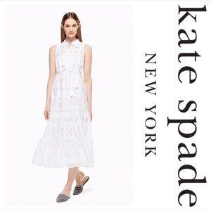 NWT Kate Spade Eyelet white Patio Dress size XS